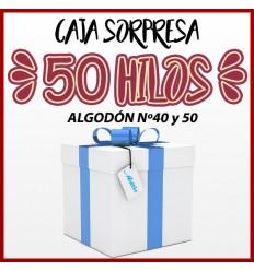 Caja sorpresa 100 hilos - 200m algodón egípcio nº60
